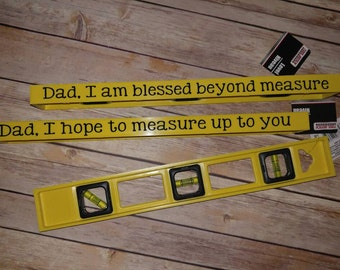 Personalized levels - fathers day