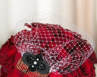 Dahlia- Birdcage Veil