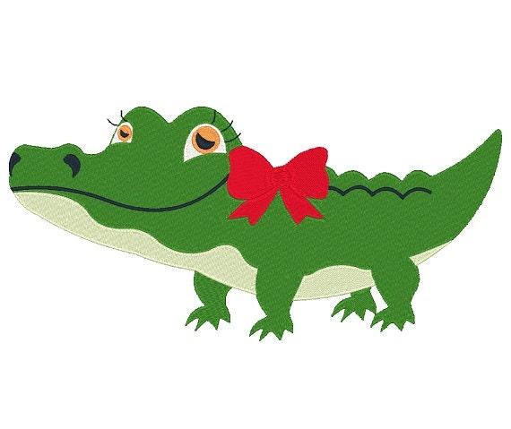Alligator Head APPLIQUE Embroidery Design 3 sizes INSTANT  |Alligator Design Embroidery Floss