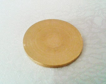 5 Pcs Raw Brass 23 mm Round Stamping Blank Disc ( No Hole -Thickness Of 1,5 mm ) 15 Gauge