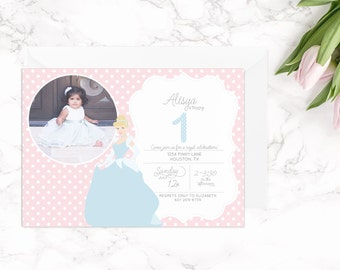 Cinderella Invitation | Princess Birthday | Cinderella Party | Cinderella Invite with Photo | Printable