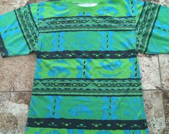 Vtg 90s Striped/Patterned Kids Shirt