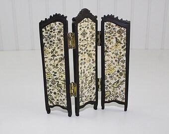 Miniature Folding Screen, Victorian Dollhouse Screen