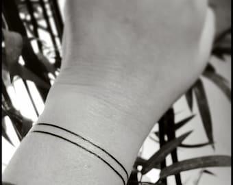 Armband tattoo wristband tattoo temporary tattoos double lines fake tattoos