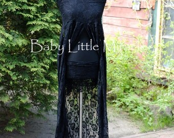 Ready to ship, 3in1 Black Lace Maternity Dress,Maternity Gown,Maternity Photo Props,Photography Props,Maternity Gown Props