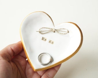 Wedding Ring Holder, Wedding Ring Dish, Wedding Bowl, Wedding Ring Pillow, Jewelry Holder, Heart Plate, Ceramics and Pottery, Ceramic Heart