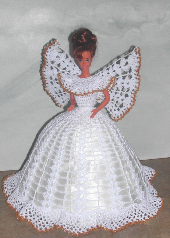 Crochet Fashion Doll Barbie Pattern 499 ANGEL FAITH