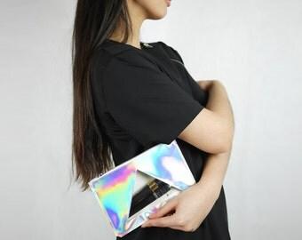 Holographic/transparent clutch/handbag/cosmetic bag/waterproof bag