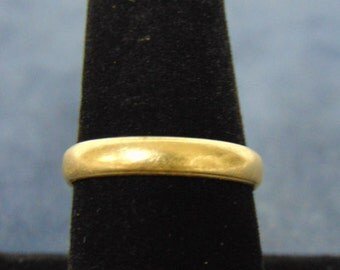 Vintage Estate 14k Yellow Gold Wedding Band Ring 3.1g #E2187