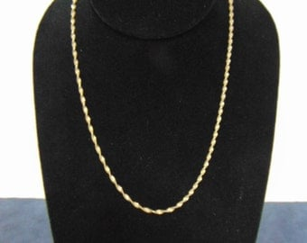 Vintage Estate Women's Sterling Silver .925 Italian Necklace 4.7g E2305