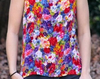 Colorful Floral 1990's Tank Top
