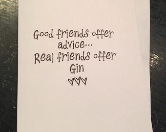 Good friends... Card