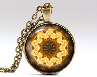 Mandala jewelry Boho necklace Indie pendant OWA405