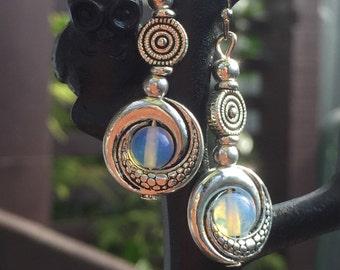 Moonstone 'circles' Earrings
