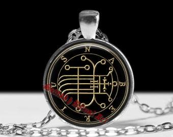 24 NABERIUS demon seal pendant, Goetia sigil necklace, Lemegeton, Lesser Key of Solomon, occult, summoning demons ritual amulet #104.24