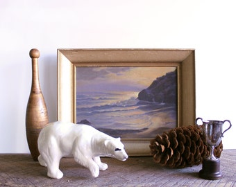 Hand Painted Large Ceramic Polar Bear Figurine