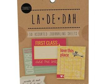 La De Dah 30 Journey Journalling Sheets Travel Journal Stick Ins