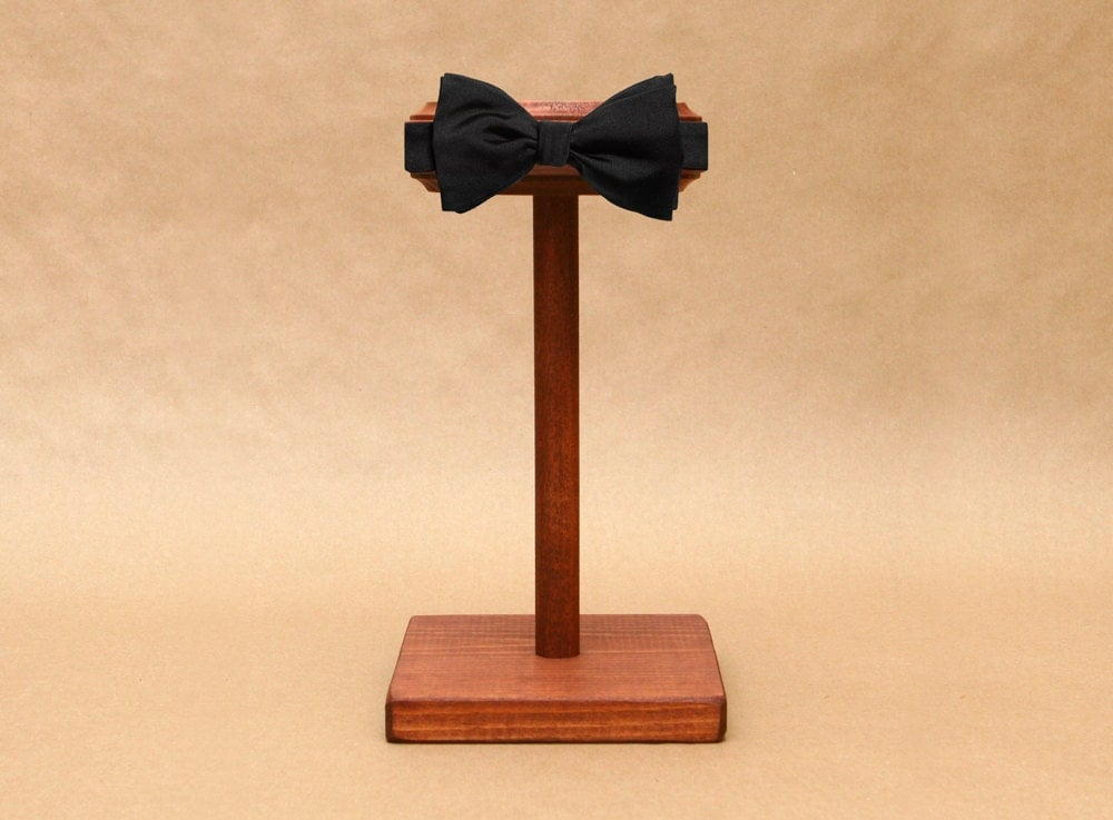 Wooden Exhibition Stand : Bow tie display stand wooden bowtie collapsible head