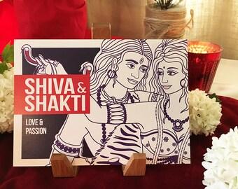 Shiva & Shakti Altar Card