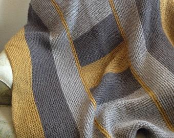 Knitting Pattern PDF, Instructions to make, Blanket knitting pattern, blanket knit pattern, knitting, patch work knitting