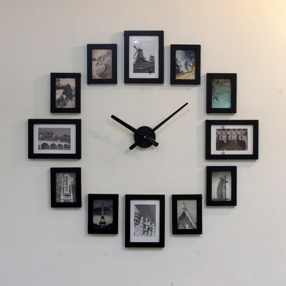 photo picture frame wall clock modern 12a by homeloo on etsy