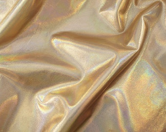 SALE - 7sqft Gold Hologram Metallic Leather Cowhide Iridescent Holographic Leather Skin for shoes, sandals, bags, upholstery