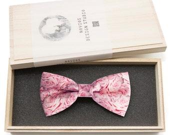 Pink Rose Bowtie - birthday gift, Toddler Bowtie Toddler Bow tie, Groomsmen bow tie, Pre Tied and Adjustable, Novioshk, H0211