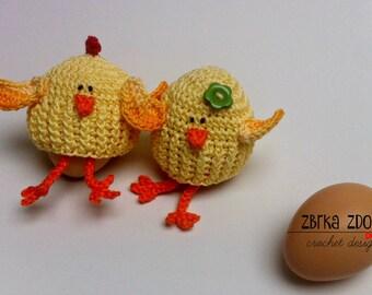 Chicken egg cozy - Crochet Pattern (No. 019) INSTANT DIGITAL DOWNLOAD