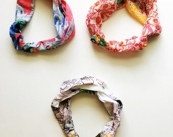 Tropical Print Stretchy Head Bands