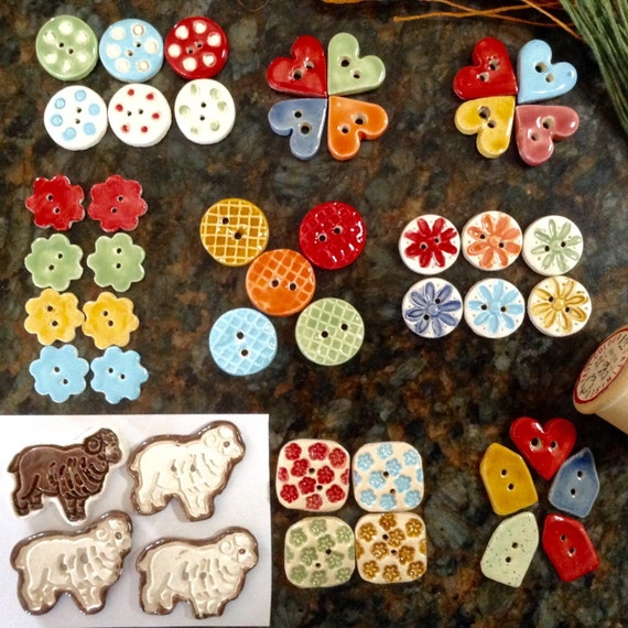 Sets of Ceramic Buttons