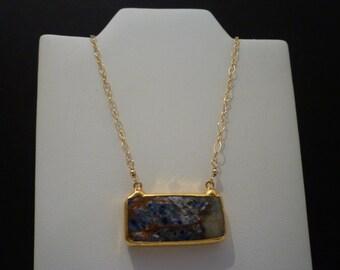 MULTI COLORED QUARTZ Necklace. Bezel Set Gemstone Necklace. Gold Vermeil Bezel Setting. 14k Gold Fill Necklace. Handcrafted Necklace