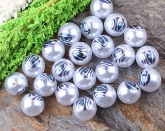 Seahawks eye 20mm acrylic pearls