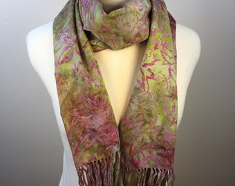 Purple/Green Floral Scarf