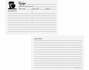 Recipe Cards | Printable Recipe Cards