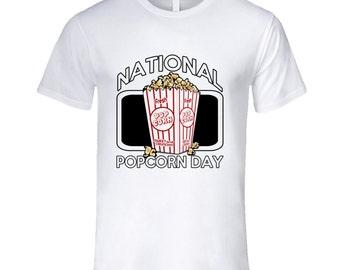 National Popcorn Day Fun Food Celebration T Shirt