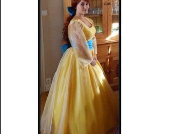 Anastasia cosplay costume Princess Anastasia yellow dress Halloween cartoon costume Women size kids size