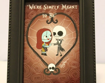 Nightmare Before Christmas We're Simply Meant to Be 4x6 Print
