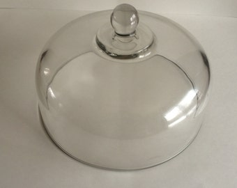 Vintage Clear Glass Cake Stand Cover