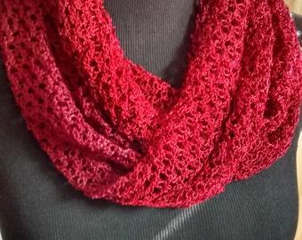 Silk Infinity Scarf - gift, crochet, Nepal, Women