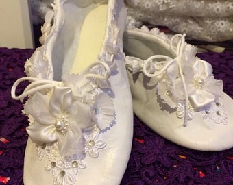 Brides and bridesmaid ballet slippers