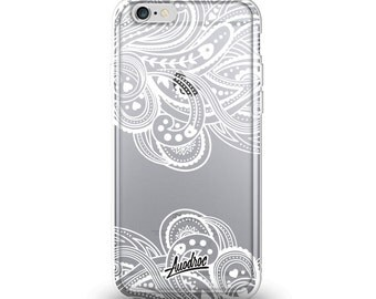 iPhone Case White Paisley