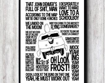 Poster Dumb/Dumber, Black and white