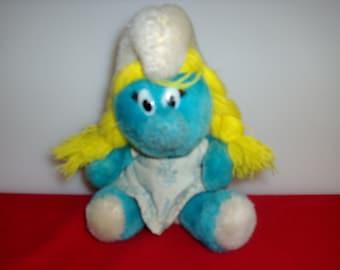 1981 Vintage Smurfette doll