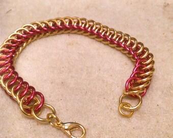 Half Persian 4 in 1 garnet and gold bracelet