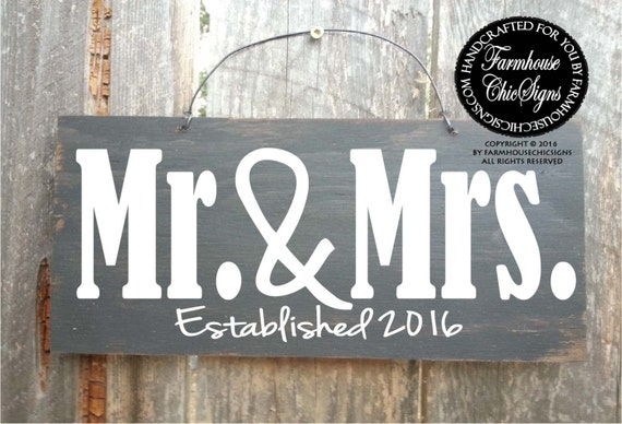 Mr Mrs Wedding Gifts: Mr And Mrs Mr And Mrs Sign Wedding Gift Gift For The