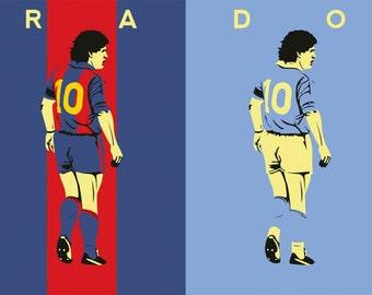 Diego Maradona A3 Print