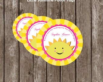 Little Sunshine Thank you Tags Personalized, You are my Sunshine Gift Favors,Sunshine Birthday Party,Party Favors Personalized PRINTABLE DIY