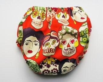 Frida & Skull Diaper Cover