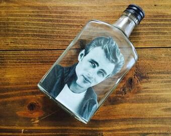 James Dean whiskey Flask OOAK