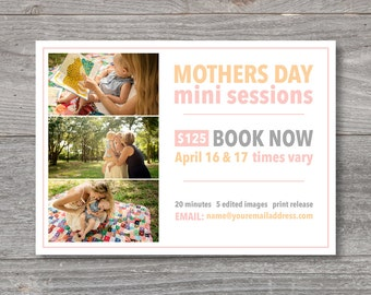 mothers day template, mothers day mini sessions, mini sessions, photography template